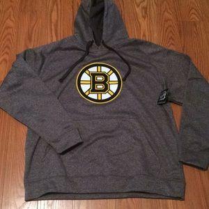 Men's pullover Bruins hoodie sweatshirt NWT